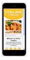 italian restaurant mobile website
