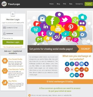 Turnkey social media traffic exchange website at josepi.com